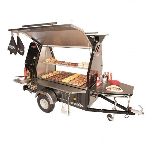 Commercial bbq, Towable grill