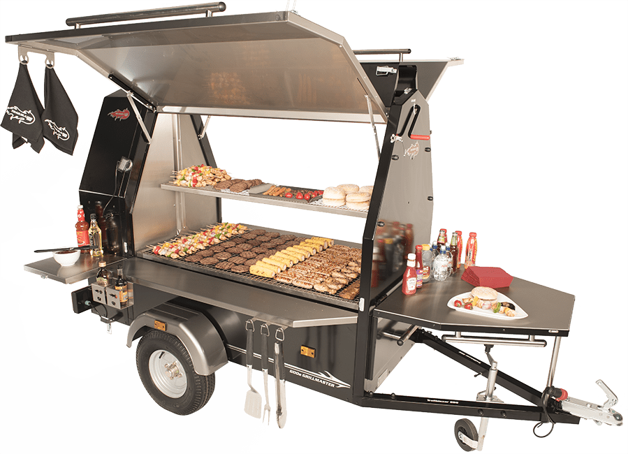 Dressed shot of Grillmaster commercial BBQ trailer