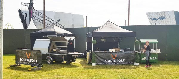 mobile catering success story, Mobile BBQ catering set up