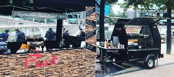 Street Food BQ, BBQ street food set up