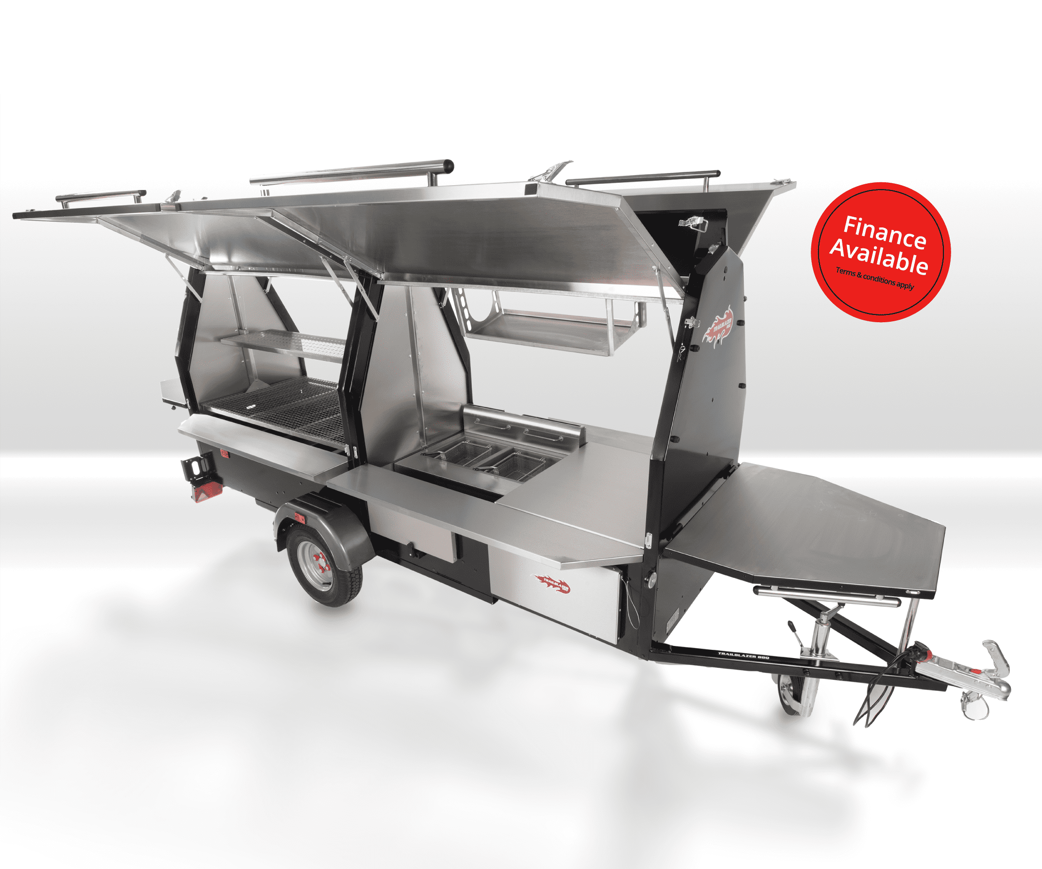 Towable BBQ trailer, The trailblazer food truck trailer