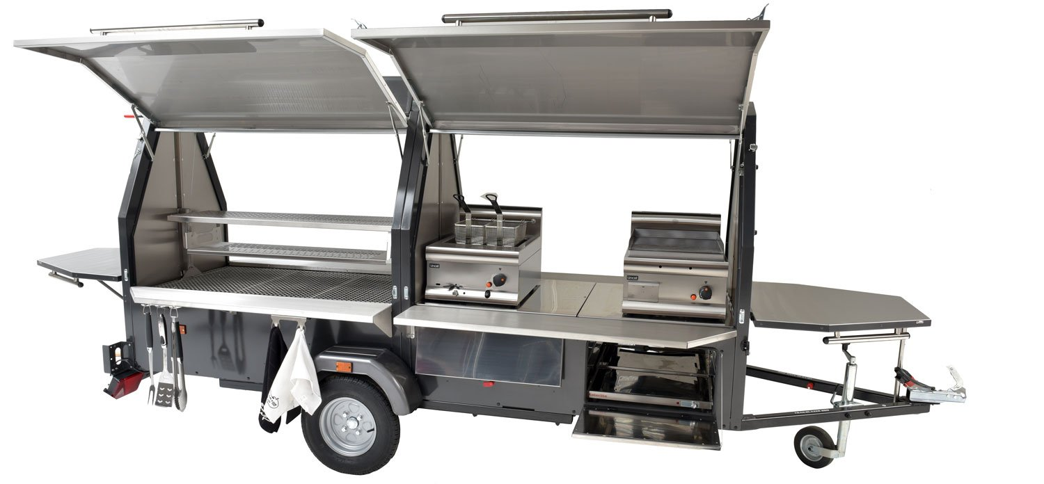 commercial BBQ food trailer