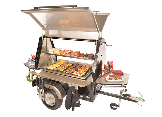 Dressed photo of commercial bbq range