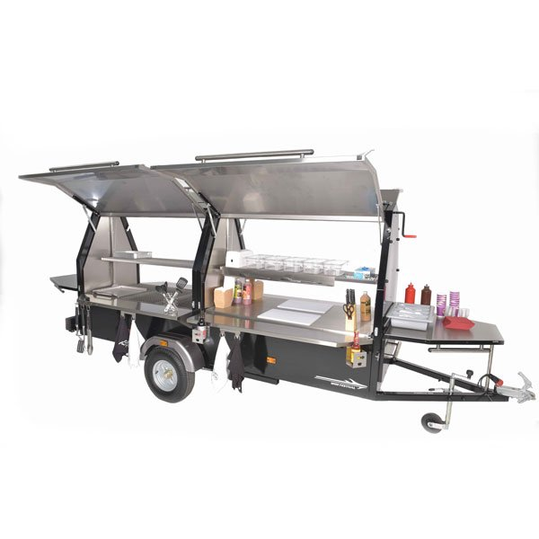 commercial bbq trailer