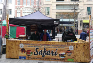 Safari-Grills street food set up with 600s Grillmaster BBQ