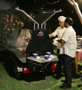 pennisula hotel catering alfresco their Trailblazer Grillmaster